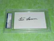 Jack Lemmon Signed 3 X 5 Index Card Autographed In-person Psa/dna Slabbed