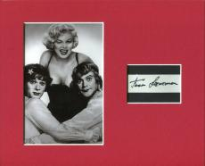 Jack Lemmon Some Like It Hot Signed Autograph Photo Display W/ Marilyn Monroe