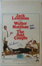 Jack Lemmon & Walter Matthau Signed The Odd Couple Original Movie Poster PSA/DNA