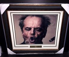 JACK NICHOLSON 16x20 Photo Framed SMOKE RING I AM WHO YOUR APPROVAL ISNT NEEDED