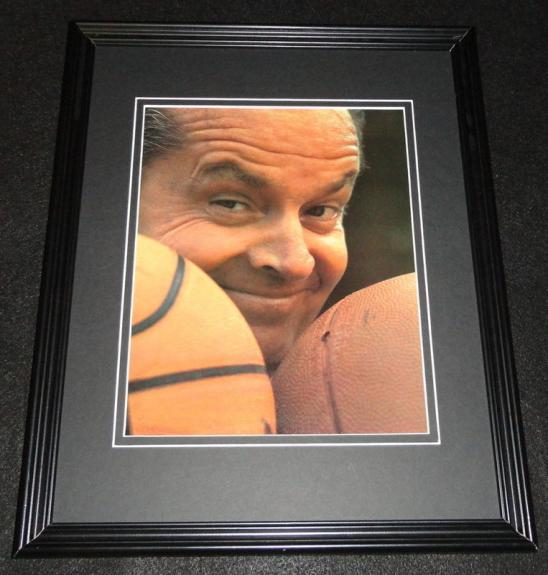Jack Nicholson 1986 Lakers Framed 11x14 Photo Display