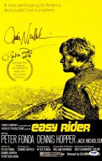 "Jack Nicholson And Peter Fonda Autographed 11"" x 17"" Easy Rider Movie Poster - PSA/DNACOA"