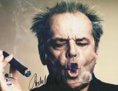 "Jack Nicholson Autographed 11"" x 14"" Smoking Cigar Photograph - BAS"