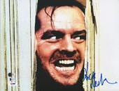 "Jack Nicholson Autographed 11"" x 14"" The Shining Photograph - BAS"