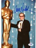 "Jack Nicholson Autographed 8""x 10"" Holding Oscar Award Next to Big Oscar Photograph - PSA/DNA COA"
