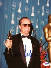 "Jack Nicholson Autographed 8""x 10"" Holding Oscar Award Photograph - PSA/DNA COA"
