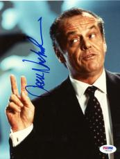 "Jack Nicholson Autographed 8""x 10"" Mars Attacks Peace Fingers Photograph - PSA/DNA COA"