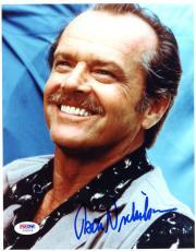 """Jack Nicholson Autographed 8""""x 10"""" Smiling Photograph - PSA/DNA COA"""