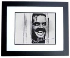 Jack Nicholson Autographed THE SHINNING 8x10 Photo BLACK CUSTOM FRAME