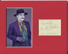 Jack Nicholson Batman The Joker Jack Napier Rare Signed Autograph Photo Display