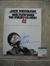 Jack Nicholson Cuckoo's Nest Signed Autographed 11x14 Photo PSA Certified
