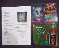 "Jack Nicholson Joker ""the Dark Knight"" Batman Signed Autographed Figure Jsa Loa"
