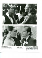 Jack Nicholson Kathleen Turner Anjelica Huston Prizzi's Honor Press Movie Photo