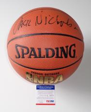 Jack Nicholson Los Angeles Lakers Signed Spalding Nba Basketball Psa Coa Q89274