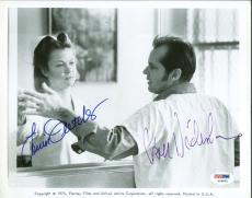 Jack Nicholson Louise Fletcher Signed Auto Cuckoos Nest 8x10 Photo PSA/DNA