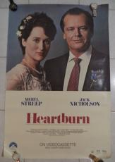 Jack Nicholson Meryl Streep Heartburn Movie 1986 Original Poster 26x40 Rare