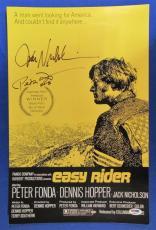 Jack Nicholson Peter Fonda Signed Autograph 11x17 Easy Rider Photo PSA/DNA P6...