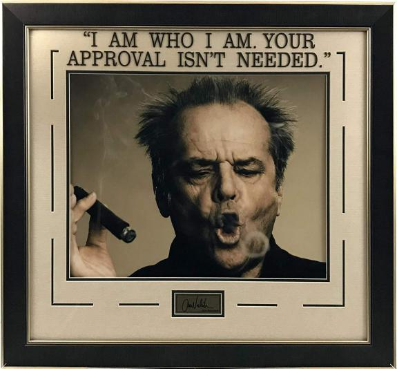 Jack Nicholson Photo and Quote with Laser Signature