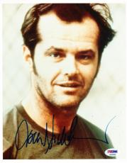 Jack Nicholson Signed 8x10 Photo The Shining Proof Pic Autograph Psa/dna Coa D