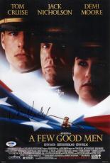 Jack Nicholson Signed A Few Good Men 11x16 Movie Poster Psa Coa P45701