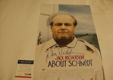 Jack Nicholson Signed About Schmidt 11x17 Movie Poster Photo Psa/dna Coa Q60255