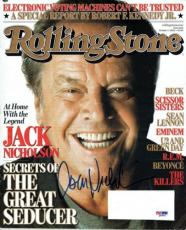Jack Nicholson Signed Authentic Rolling Stone Magazine (PSA/DNA) #Q43911