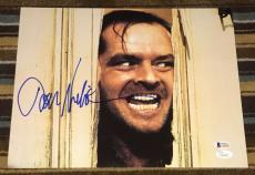 JACK NICHOLSON SIGNED AUTOGRAPH CLASSIC THE SHINING FACE 11x14 PHOTO BECKETT COA
