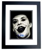 Jack Nicholson Signed - Autographed Batman - Joker 8x10 inch Photo BLACK CUSTOM FRAME - Guaranteed to pass PSA or JSA