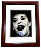Jack Nicholson Signed - Autographed Batman - Joker 8x10 inch Photo MAHOGANY CUSTOM FRAME - Guaranteed to pass PSA or JSA