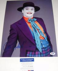 Jack Nicholson Signed Batman Joker 11x14 Photo Psa/dna