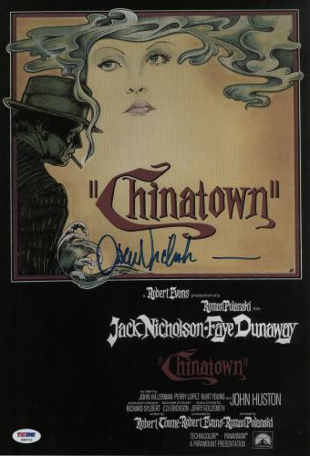Jack Nicholson Signed Chinatown 11x16 Movie Poster Psa Coa P45712