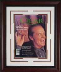Jack Nicholson Signed Cigar Aficionado Framed Display