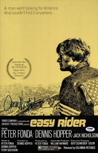 Jack Nicholson Signed Easy Rider 11 X 17 1/2 Movie Poster Psa Coa P45716