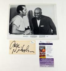 Jack Nicholson Signed Index Card + B & W 8 x 10 Photo JSA Auto