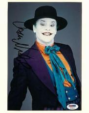 Jack Nicholson Signed Joker Authentic Autographed 8x10 Photo (PSA/DNA) #T58812