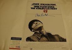 Jack Nicholson Signed One Flew Over The Cuckoo's Nest Movie Poster Psa Q60590