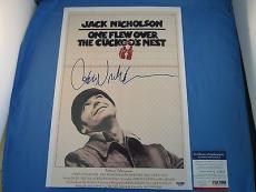 Jack Nicholson Signed One Flew Over The Cuckoo's Nest Poster PSA DNA COA Auto