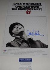 Jack Nicholson Signed ..over The Cuckoos Nest Photo Psa