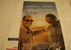 Jack Nicholson Signed The Bucket List Movie Poster Photo Psa/dna Coa Q60250