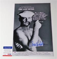 Jack Nicholson Signed The Last Detail 12x18 Movie Poster Psa Coa Q60591