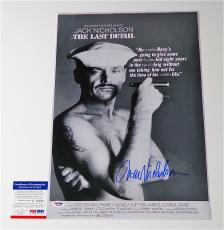 Jack Nicholson Signed The Last Detail 12x18 Movie Poster Psa Coa Q60591