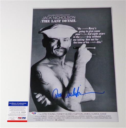 Jack Nicholson Signed The Last Detail 12x18 Movie Poster Psa Coa Q60594
