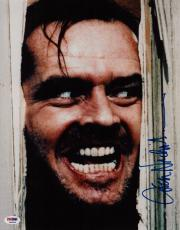 "Jack Nicholson The Shining Signed ""here's Johnny!"" 11x14 Photo Psa Coa P45705"