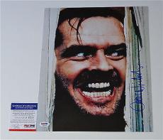 "Jack Nicholson The Shining Signed ""here's Johnny!"" 11x14 Photo Psa Coa P45706"