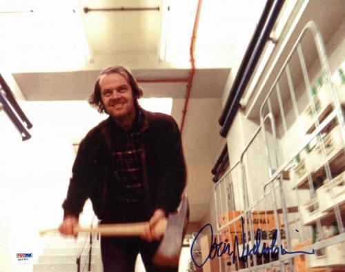 Jack Nicholson The Shinning Signed 11x14 Photo PSA/DNA #Q31321