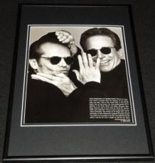 Jack Nicholson & Warren Beatty 1995 Framed 12x18 Photo Display