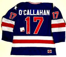 Jack O'callahan 1980 Team Usa Olympics Signed Blue Jersey Psa/dna Coa V71793
