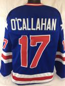 Jack O'callahan Unsigned Usa Olympic Blue Jersey Size Large 1980 Miracle On Ice