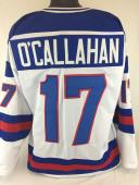 JACK O'CALLAHAN UNSIGNED USA OLYMPIC WHITE JERSEY SIZE 2xl 1980 MIRACLE ON ICE