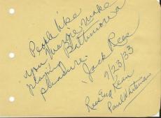 Jack Rees Signed Vintage Album Page Rees & Kean